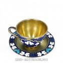 Серебряная чайная пара