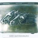 Портсигар «Лошади»