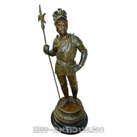 """Скульптура """"Античный воин с копьем"""""""