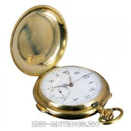 Часы карманные трехкрышечные с четвертным репетиром и хронометром