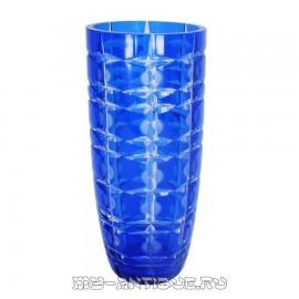 Ваза для цветов, синее двухслойное стекло