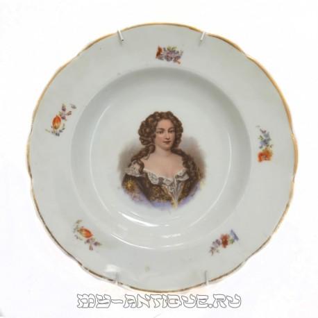 Тарелка декоративная «Портрет дамы»