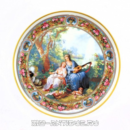 Тарелка «Вечер в саду»