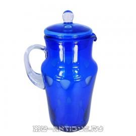 Кувшин для воды, синее стекло