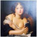 Девушка с голубой лентой в волосах