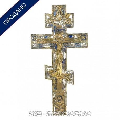 Бронзовый крест-распятие