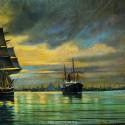 Корабли уходящие из порта Копенгагена