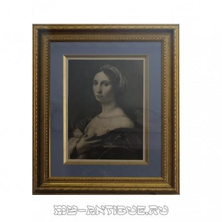 Литография «Дама»
